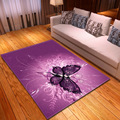 Украшение для дома 3D ковер с бабочками коврики фланелевые противоскользящие для девочек спальня Детский игровой пол ковер Фиолетовый кове...
