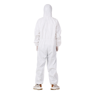 Image 4 - Proteção descartável terno laboratório roupas de segurança telemóvel cobertura