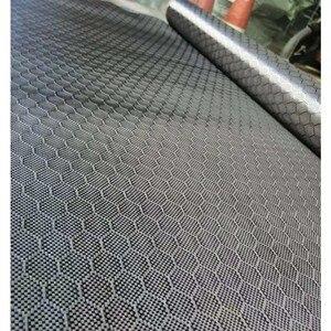 """Image 3 - Tissu en Fiber de carbone véritable, motif de Football, 3K 240gsm, 32 """" / 82cm de large, tissu Hexagonal en nid dabeille, livraison gratuite"""