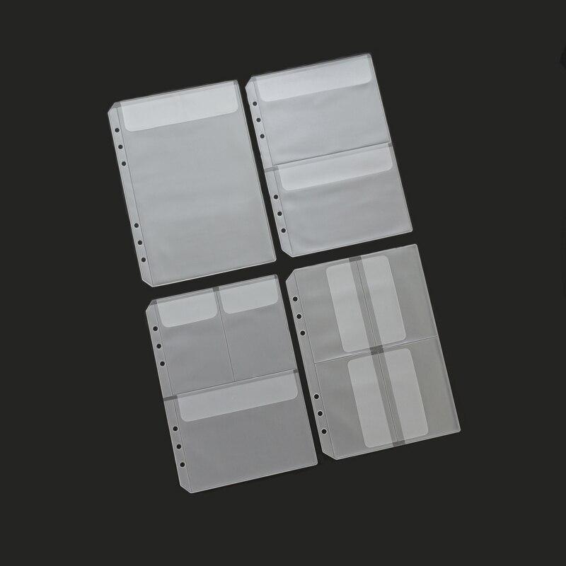 MaoTu de hoja suelta bolsa de almacenamiento PVC etiqueta billete tarjeta, organizador de Bolso con solapa A5 A6 diario Bloc de notas con espiral anillo en espiral Binder de relleno Cuadernos    - AliExpress