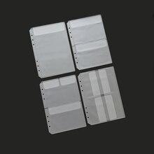 MaoTu Loose Leaf PVC Storage Bag Sticker Ticket Card Organiz