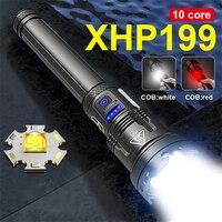 Super brillante XHP199 Linterna Led 18650 Antorcha recargable Usb Linterna táctica Multifunción COB Familia Luz de flash al aire libre