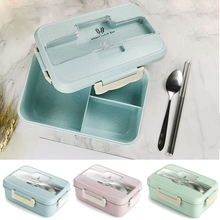 Microwave Lunch Box Compartments Wheat Straw Food Storage Container Children kids School Office Camping Portable Bento Box Bag 1100ml microwave lunch box wheat straw dinnerware food storage container children school office portable bento box kitchen tools