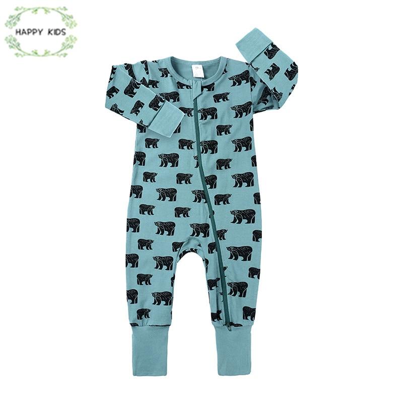 Long Sleeve Cotton Bodysuit for Baby Boys and Girls Fashion Mama Bear Sleepwear
