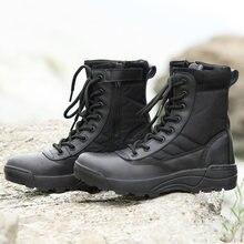 Hunter stivali da uomo impermeabili scarpe antinfortunistiche da lavoro stivali da combattimento da deserto alti da esterno Militares stivaletti tattici Sneakers da uomo