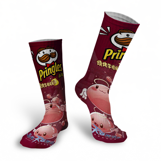 Cotton Cartoon Food Print Casual Cotton  Socks 5