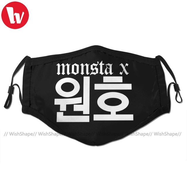 The Boyz Kpop Mouth Face Mask Monsta X Wonho Name Facial Mask Fashion Funny with 2 Filters for Adult