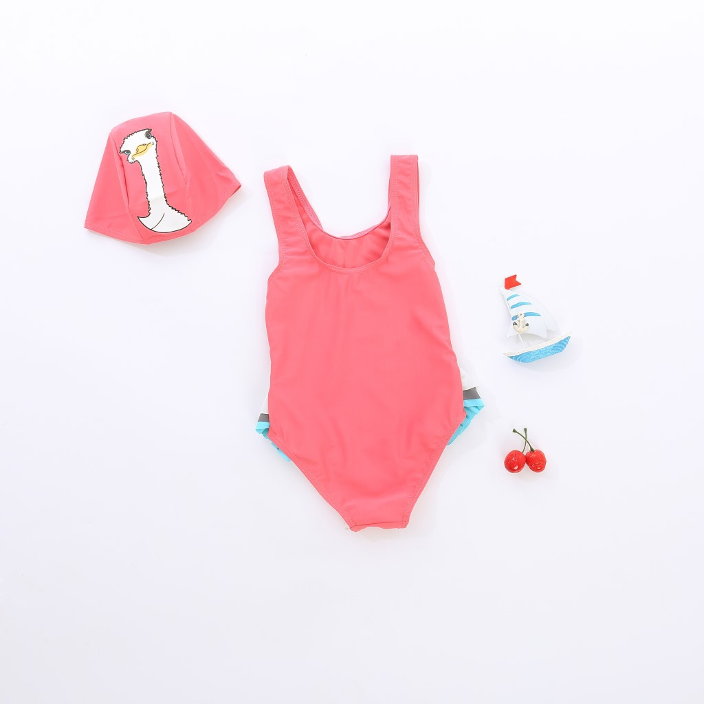 New Products KID'S Swimwear GIRL'S Swimsuit One-piece Swimming Suit Swan Bathing Suit