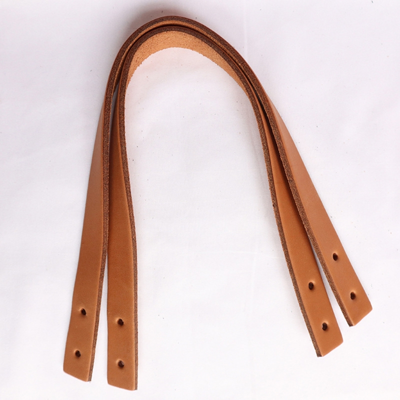 6Pcs Cow Split Leather Purse Handles Genuine Leather Bag Straps DIY Handbag