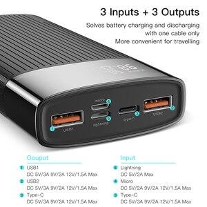 "Image 3 - KUULAA כוח בנק 20000 mAh QC פ""ד 3.0 PoverBank מהיר טעינת PowerBank 20000 mAh USB חיצוני סוללה מטען עבור Xiaomi mi 10 9"
