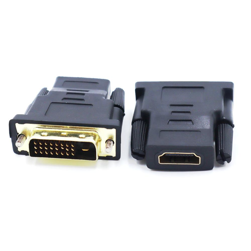 HD Ankle HDMI To DVI 24 + 1 Adapter For PC PS3 Projector TV Box HDMI Female To DVI Male 1080P HDTV Converter