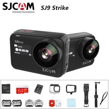 Oryginalny SJCAM SJ9 STRIKE 4K kamera akcji ekran dotykowy przekaz na żywo Gyro EIS stabilizacja wodoodporny Sport DV tanie i dobre opinie SONY IMX377 (1 2 3 12 MP) Ambarella H22 (4K 60FPS) O 12MP 1300 mAh detachable battery Professional Elektroniczny stabilizacja obrazu