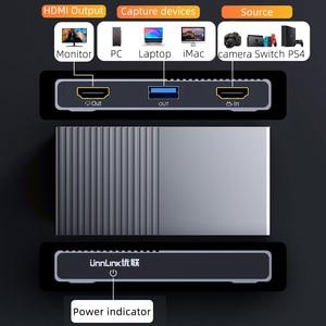 Image 2 - Unnlink USB3.0 لعبة UVC بطاقة التقاط الصوت والفيديو التقاط الفيديو 1080 @ 60Hz سجل البث المباشر للكاميرا كاميرا ويب PC PS3 PS4 TV xbox التبديل