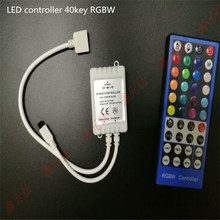 RGBW CONTROLLER 12V-24v 8a LED strip RGB Light and color modulator 5pin 40key IR controller