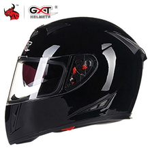 GXT אופנוע קסדה מלא פנים Casco Moto זוגי Visor מרוצי מוטוקרוס קסדת Casco מודולרי Moto קסדת אופנוע Capacete #
