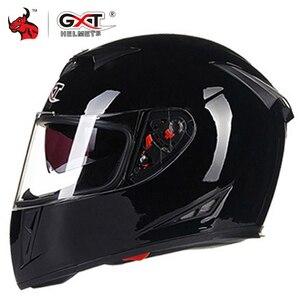 Image 1 - GXT Motorcycle Helmet Full Face Casco Moto Double Visor Racing Motocross Helmet Casco Modular Moto Helmet Motorbike Capacete #