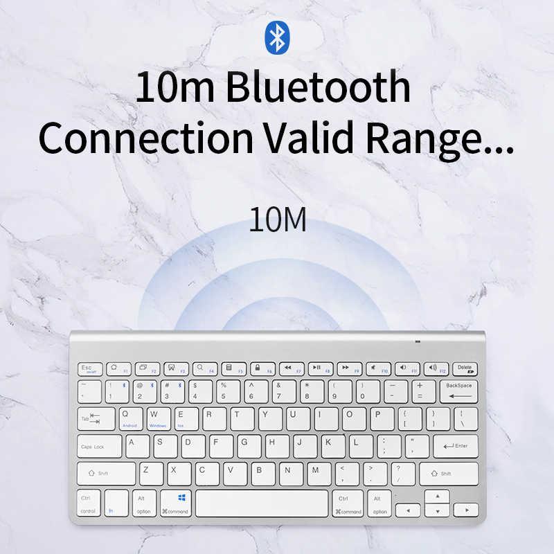SANLEPUS профессиональная ультра-тонкая беспроводная клавиатура Bluetooth 3,0 клавиатура Teclado для Apple для iPad серии iOS