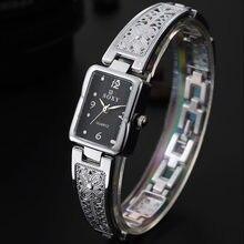 Часы женские Кварцевые водонепроницаемые модные золотистые наручные