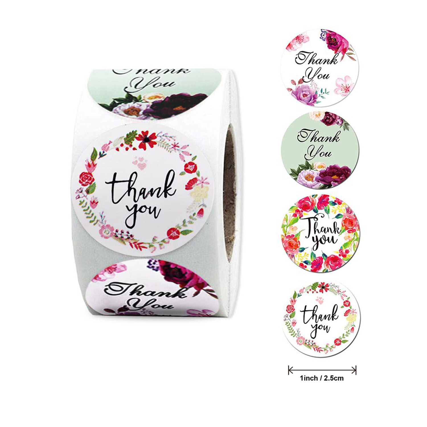 """Free Ship""""Thank-You Custom Sticker Seal-Labels Package Decoration Wedding-Sticker Round 500pcs/Roll"""