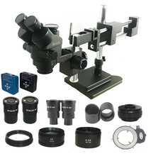 3.5X 180X Double Boom Simul Focal trinocular stereo Microscope 34MP HDMI USB digital camera Industrial PCB Jewelry repair tool