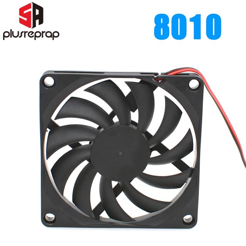 8010 12v ventilador de refrigeração sem escova para a impressora reprap3d peças dc refrigerador 80x80x10mm ventilador plástico