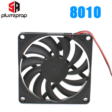 8010 12 v ventilador de refrigeração sem escova para a impressora reprap3d peças dc refrigerador 80x80x10mm ventilador plástico
