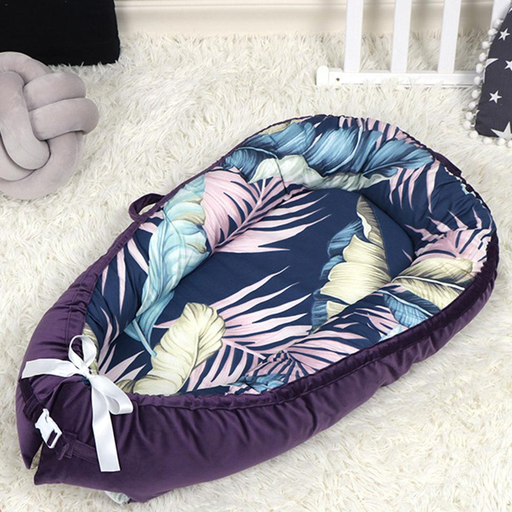 Removable Baby Sleep Nest Protector Bumper Newborn Lounger Bed Cushion Portable Todder Crib Cradle Infant Soft Bassinet