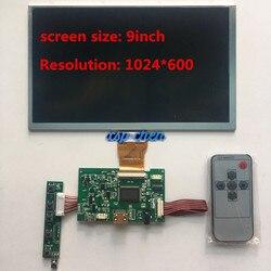 9 inch1024 * 600 tela hd monitor tft lcd com controle remoto driver placa hdmi para computador laranja raspberry pi 2 3 4