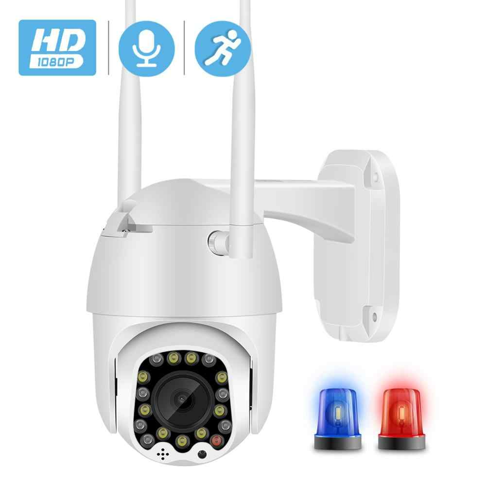 Besder Outdoor Gerak Peringatan 2MP Ip Kamera Wifi 4X Zoom Digital Antena Dual Speed Dome Camera dengan Lampu Sirene Cloud penyimpanan