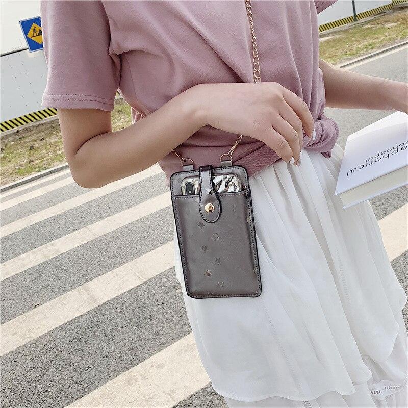 JIULIN 2019 Новая мода PU мобильный телефон сумка одно плечо маленькая сумка
