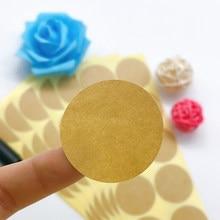 100 adet/grup yeni Vintage boş yuvarlak Kraft mühür etiket el yapımı ürünler 35mm yuvarlak hediye sızdırmazlık Sticker DIY not etiket