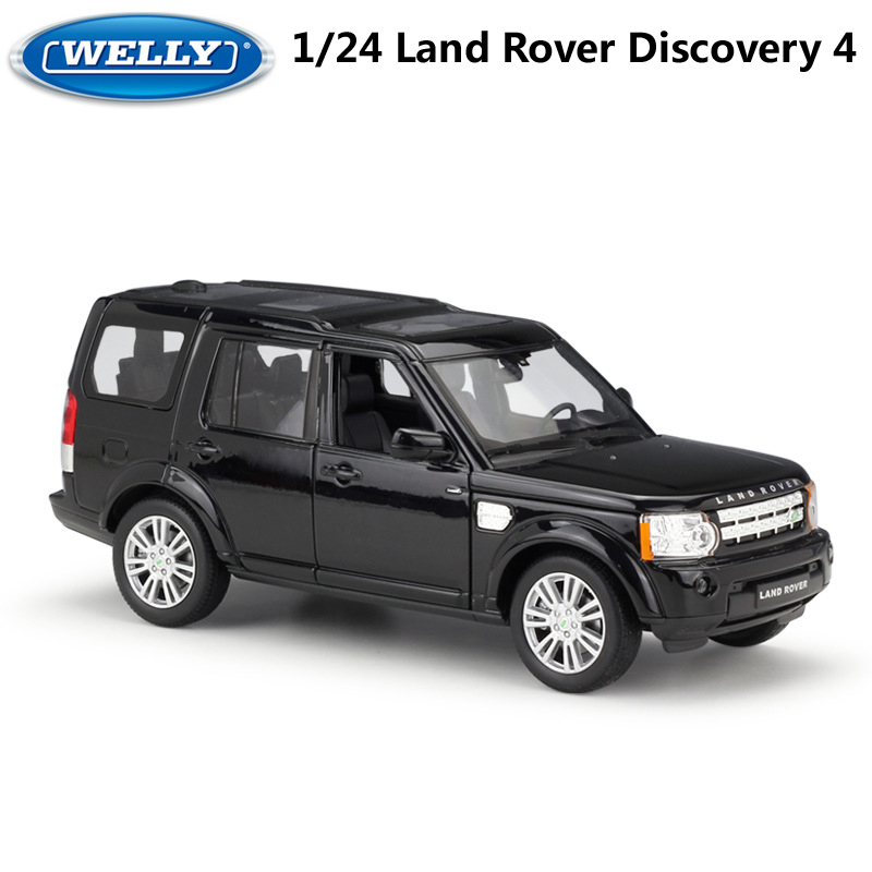 WELLY Model Car 1:24 Diecast Classic Alloy Car Toy Land Rover Discovery 4 Off-Road Metal Toy Car For Children Gifts Collection