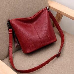 Image 2 - Женские ручные сумки через плечо для женщин 2020 роскошные сумки женские кожаные сумки через плечо сумка тоут дизайнерская женская сумка bolsa feminina