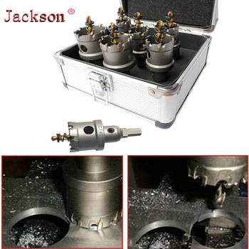 цена на HSS Drill Bit Set High Speed Steel Carbide Tip Hole Saw Tooth Cutter Metal Drilling Hand Woodworking oard Hardware Install Guide