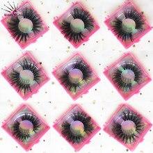 Nerz Wimpern Gefälschte Wimpern Pack Falsche Wimpern Set Nerz Wimpern Großhandel Natürliche Lange Wimpern Groß Wimpern 25mm Lash Anbieter