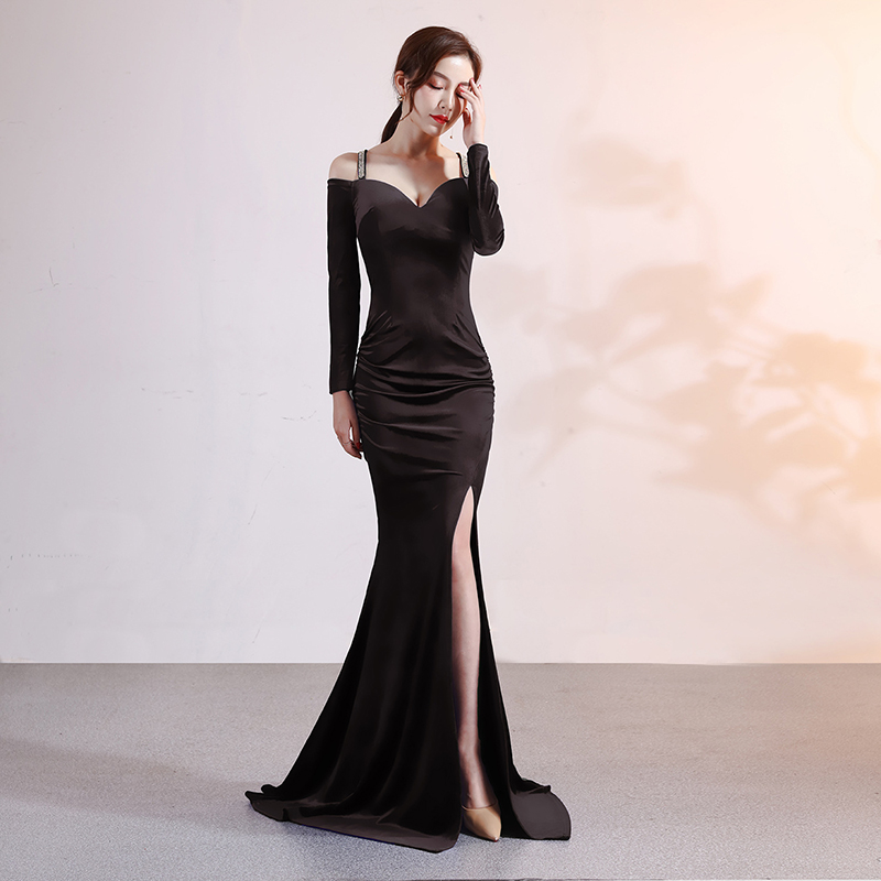 Mermaid Backless Evening Dresses Long Sleeve Party Dresses Gowns Long Party Dresses Women Evening Woman Dress Elegant Evening