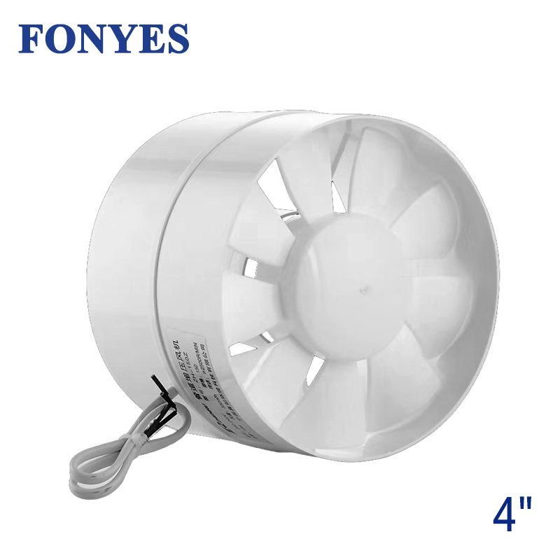 4 inch inline <font><b>duct</b></font> <font><b>fan</b></font> mini blower ventilation extractor exhaust <font><b>fan</b></font> ceiling air vent pipe ventilator bathroom <font><b>fan</b></font> <font><b>100mm</b></font> 220V image