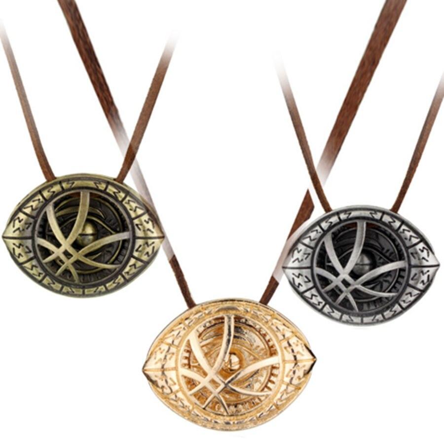 Dr Doctor Strange Eye of Agamotto Amulet Antique Bronze Pendant Necklace Cosplay
