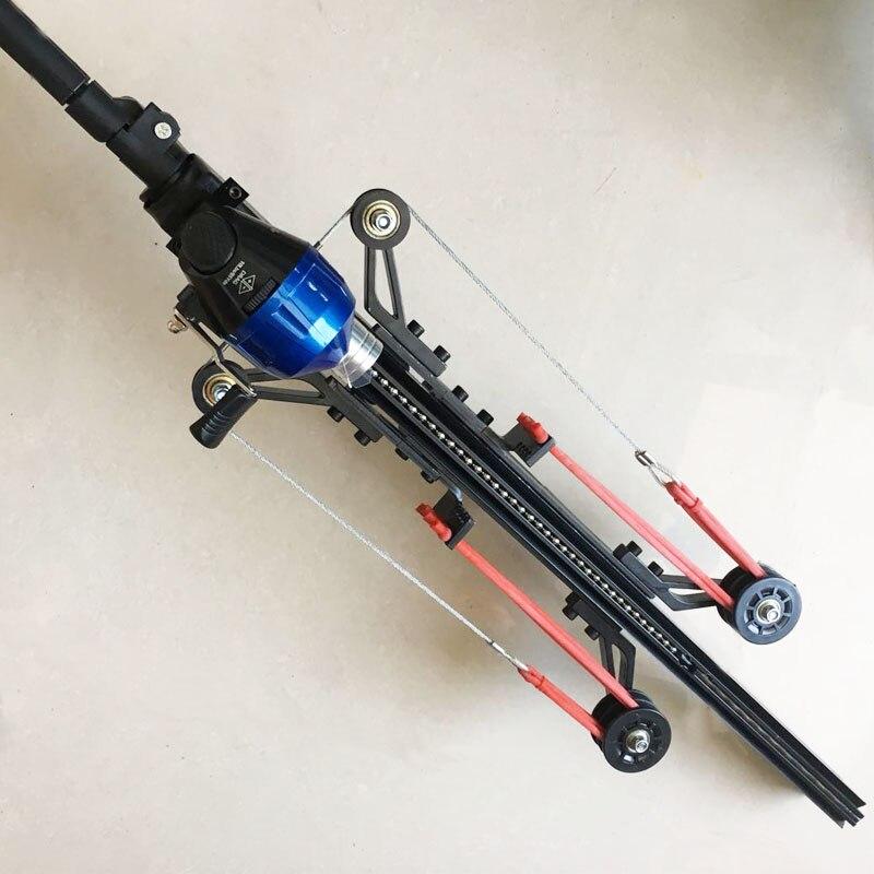 Yangın ejderha G5 yarı otomatik sapan avcılık balıkçılık Crossbow mancınık çok fonksiyonlu çelik topu cephane ok sürekli çekim