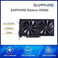 Saphir Radeon RX580 4G 256bit GDDR5 AMD carte graphique de bureau HDMI PCI-E pour PUBG/GTA5 Gamers haut de gamme par rapport à RX570
