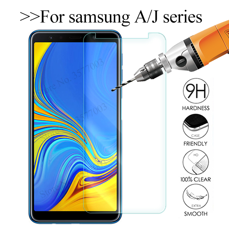 Tempered Glass For Samsung Galaxy A6 A8 J4 J6 Plus A7 A5 A9 2018 Screen Protector On The Sumsung Galax J 4 6 A 8 Protective Glas