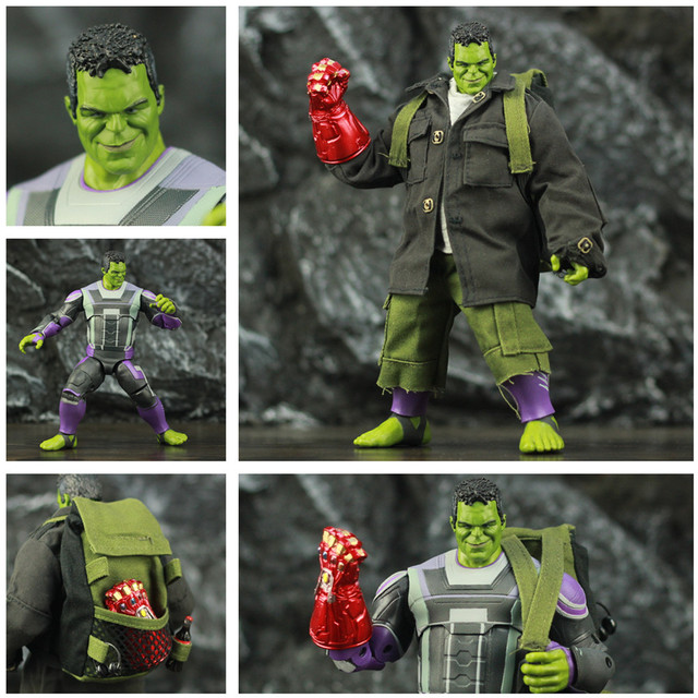 Avengers Endgame Hulk with Infinity Gauntled, Quantum Suit, Coat and Pants 8inch. 1