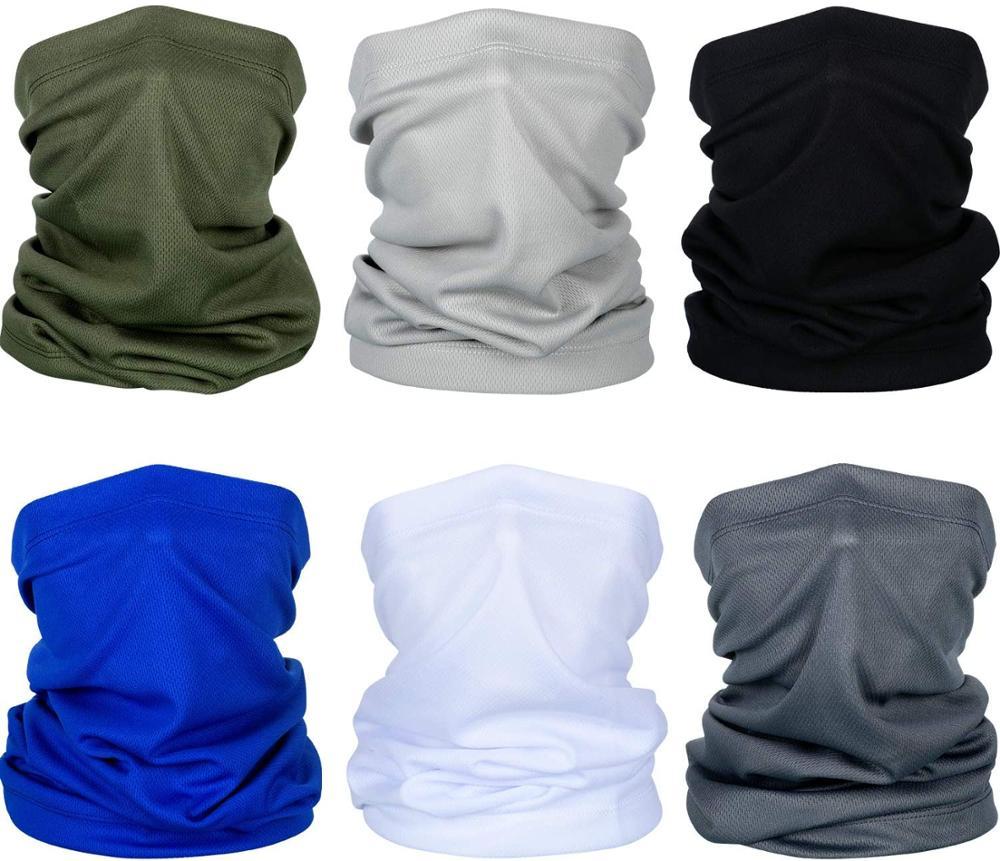 Sun UV Protection Neck Gaiter Mask Magic Face Cover Scarf Dust Wind Proof Men's Bandana Balaclava Headwear For Fishing Hiking