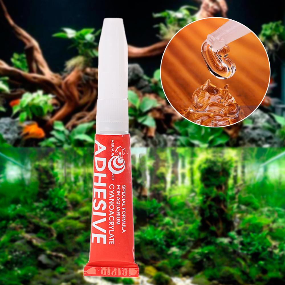 Aquarium Glue Aquatic Plants Grass Professional Adhesive Fish Tank Instant Cyanoacrylate Special Formula Supplies Accessories