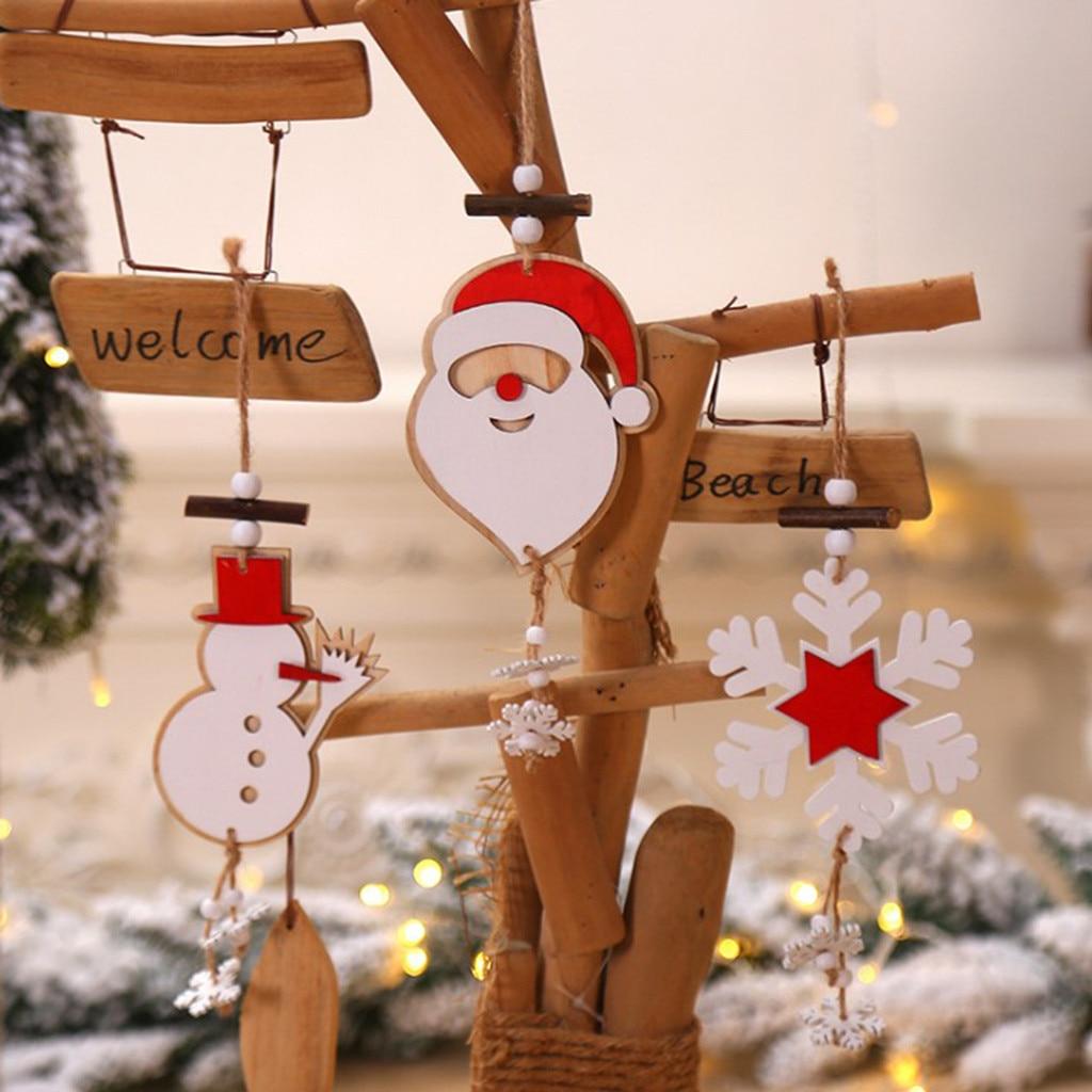 Pendants Christmas Snowflake Hanging Ornaments Xmas Decoration Santa Claus