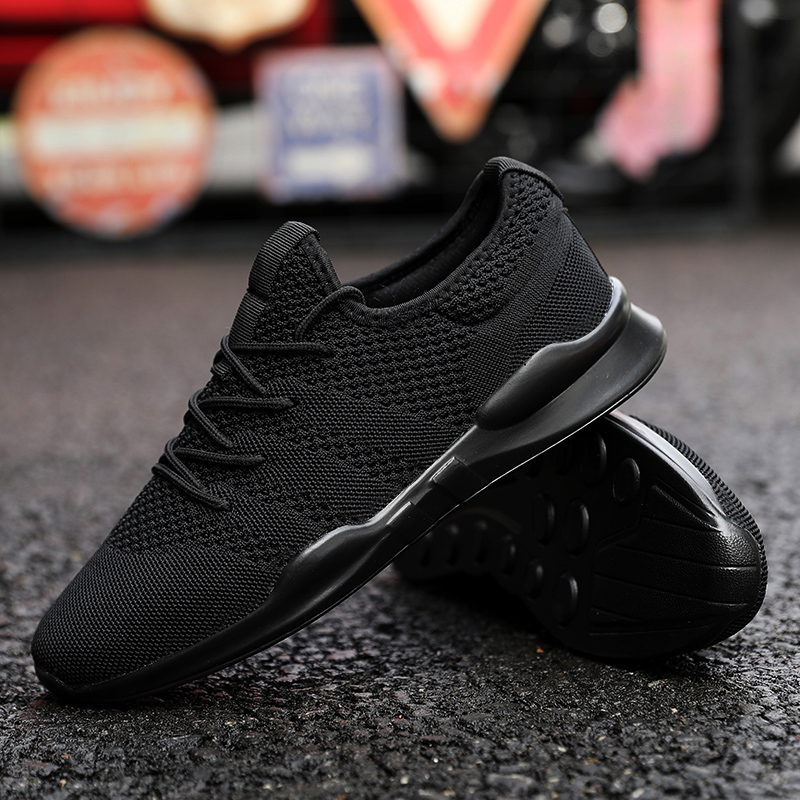 Men Running Shoes Outdoor Black White Sneakers Lovers Shoes High Quality Casual Breathable Shoes Mesh Soft Jogging Tennis Shoes
