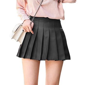 Biała plisowana sportowa spódnica do jogi krótka kobieta w pasie krótka spódniczka seksowna letnia haftowana Mini spódnica do tenisa damska tanie i dobre opinie LOOZYKIT WOMEN POLIESTER spandex COTTON CN (pochodzenie) Stałe Dobrze pasuje do rozmiaru wybierz swój normalny rozmiar