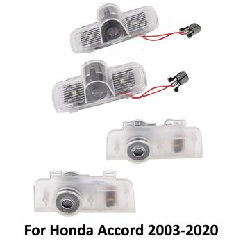 2 sztuk LED Logo samochodów dzięki uprzejmości lampka drzwi dla Honda Accord 7 8 9 10 2020 2019 2018 2017 2016 #8211 2003 wnętrze projektor świetlny laserowy tanie i dobre opinie NONE CN (pochodzenie) Światło na powitanie