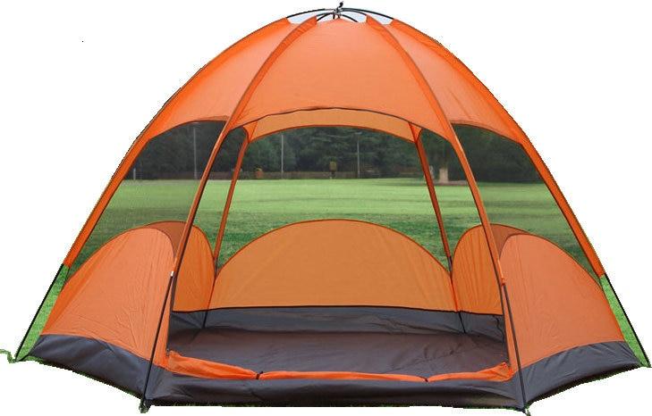 Mongolian Yurt Tent Fishing Mosquito Net Picnic Family Outdoor Camp Summer Beach Camping Tent 5 Person Waterproof (6)_