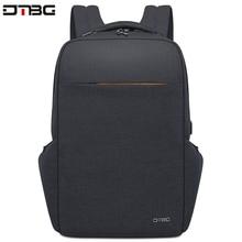 DTBG حقائب ظهر مضادة للماء متعددة الوظائف مزودة بوصلة USB للشحن للرجال مقاس 17.3 بوصات للمراهقين حقيبة ظهر مضادة للسرقة للسفر للرجال
